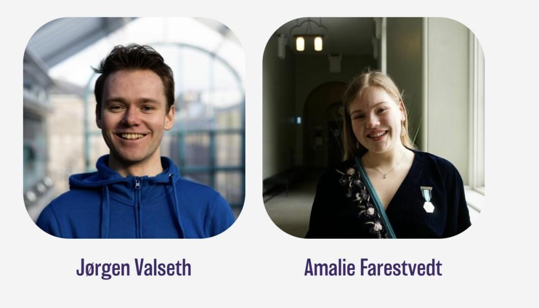 Jørgen Valseth og Amalie Farestvedt er studentenes nye representanter i styret ved NTNU selv om de ikke fikk flest stemmer.