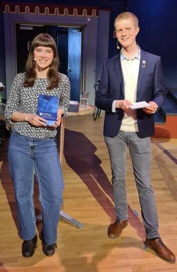 Mathilde Eiksund og Simen Ringdahl er de nåværende studentrepresentantene i styret ved NTNU. Ringdahl er lei for at valget har skapt reaksjoner.