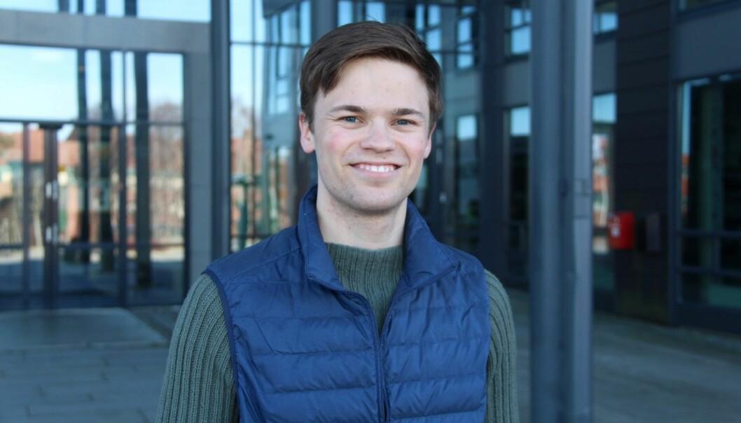 Student og studentleder i Tekna, Erlend Hemansen.