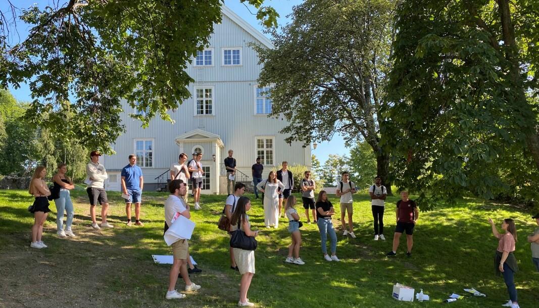 Bildet er fra studiestart ved Høgskolen i Innlandet, høsten 2021.