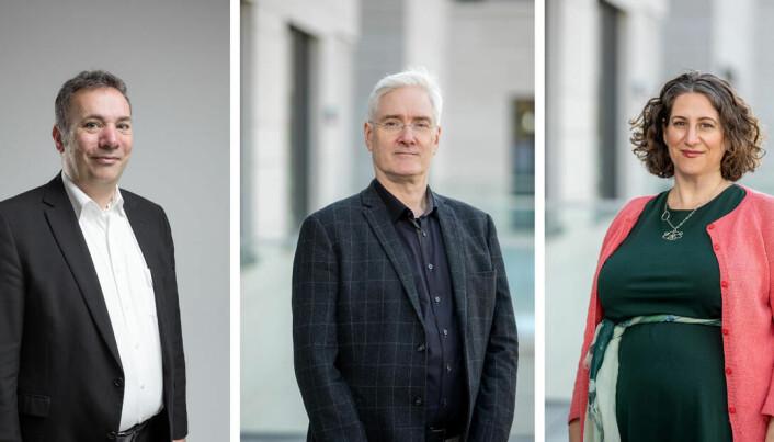 Karsten Specht og Yael Harlap vert ein del av Norman Anderssen (i midten) sitt nye dekanat ved Det psykologiske fakultetet.