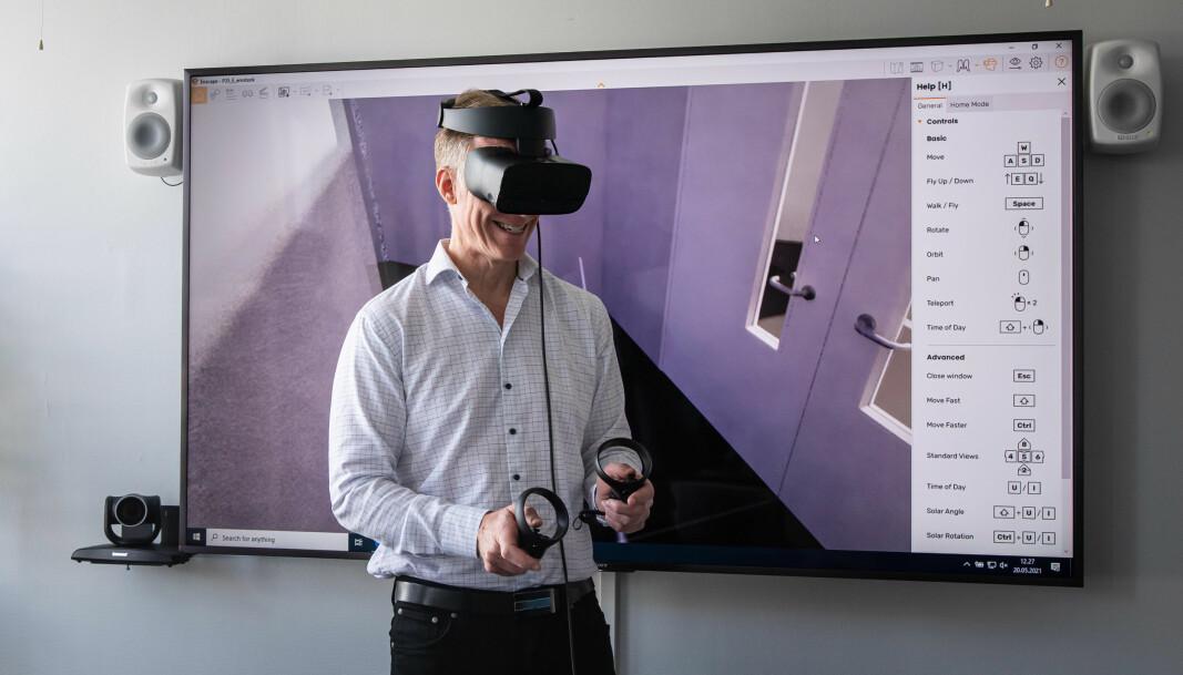 — Wow, sa Curt Rice når han først kom inn i VR-modellen av Pilestredet 35.