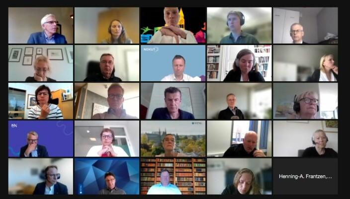 UHRs representantskap består av ledere fra alle 32 medlemsinstitusjoner pluss Norsk studentorganisasjon. Hvert medlem har 1 stemme.