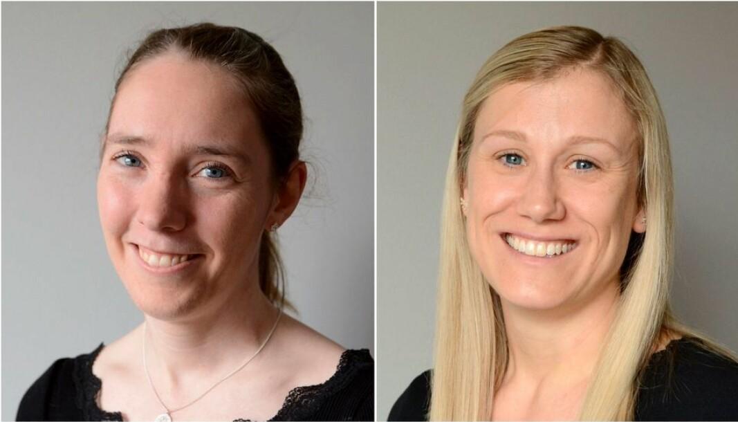 Forsker og fungerende forskningsleder Inga Gudem Ringdalen (t.v.) og forsker Sigrid Lædre ved forskningsinstituttet Sintef inviterer til likestillingsdebatt.