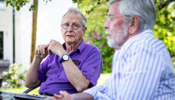 — Vår generasjon akademikere må støtte opp om gode formål, mener Steinar Stjernø og hans kollega Knut Halvorsen.