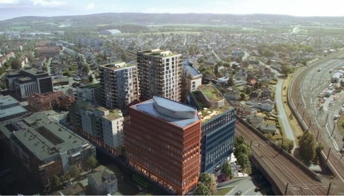 Dette er alternativet for OsloMet i Lillestrøm sentrum.