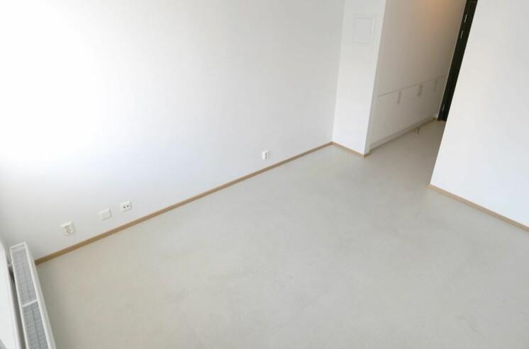 For å bo på dette rommet må studentene ut med 6664 kroner i måneden. Fra Pilestredet Park Studenthus i Oslo.