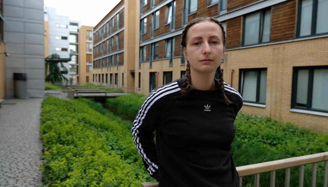 Nina Arnesen bor på Bjølsen Studentby i Oslo og mener leieprisene må ned.