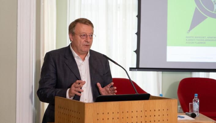 Jurist Vidar Strømme innledet også under seminaret, om jussen rundt ytringsfriheten i akademia.