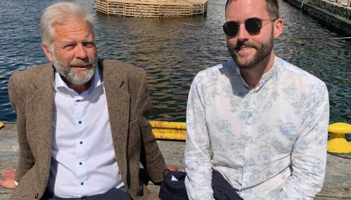 Hans Munthe-Kaas (til venstre) tek seks veker om bord. Men han må jobba litt; professoren leiar ein SFF-søknad som er komen til andre runde hos Forskingsrådet. Birger Berge skal vera med i tre veker.