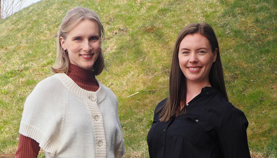 Guro Igesund (f.v) og Julie Bjerkevik har i samarbeid med Sit startet prosjektet «Innom», et samtaletilbud for andre studenter.