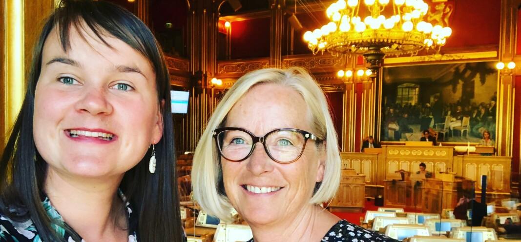 Senterpartiet har flere store prosjekt vi vil iverksette om vi får en hånd «på rattet» i regjering etter høstens stortingsvalg, lover Marit Arnstad og Marit K. Strand.