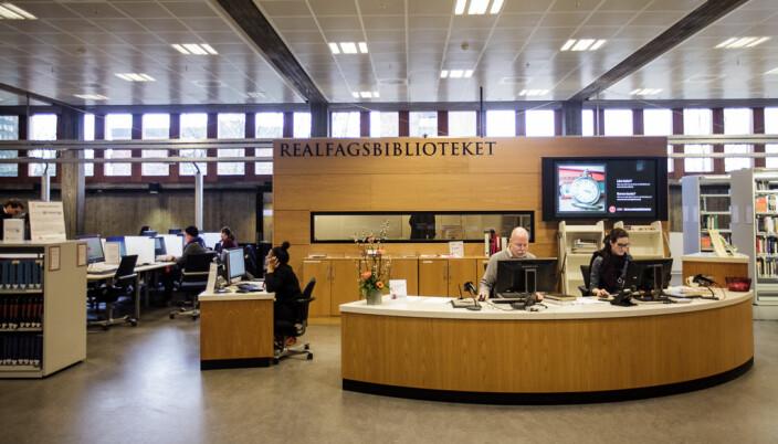 Her fra Realfagsbiblioteket ved Universitetet i Oslo på Blindern. De ble kåret til beste bibliotek i 2016.