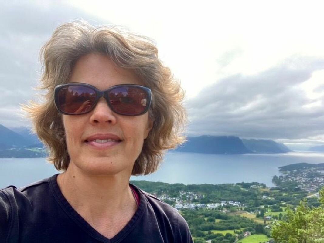 Astrid Kvalbein har tilbragt store deler av sin ferie på Sunnmøre.