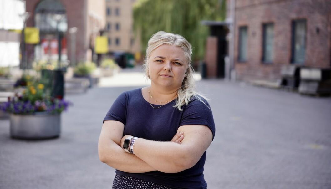 Elise Håkull Klungtveit er leder Pedagogstudentene i Utdanningsforbundet, og maner politikerne til ta på alvor det svake opptaket for lærerutdanningene denne sommeren.