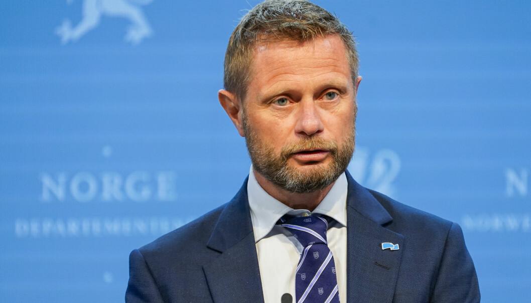 Oslo 20210728. Helse- og omsorgsminister Bent Høie under en pressekonferanse om koronasituasjonen.Foto: Torstein Bøe / NTB