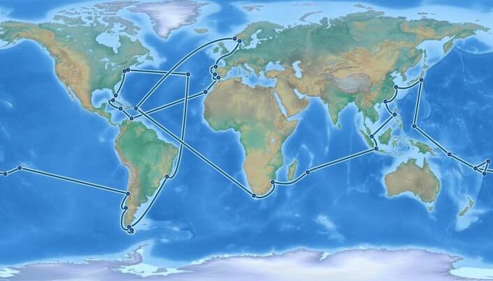 Her er ruten One Ocean Expedition skal seile.