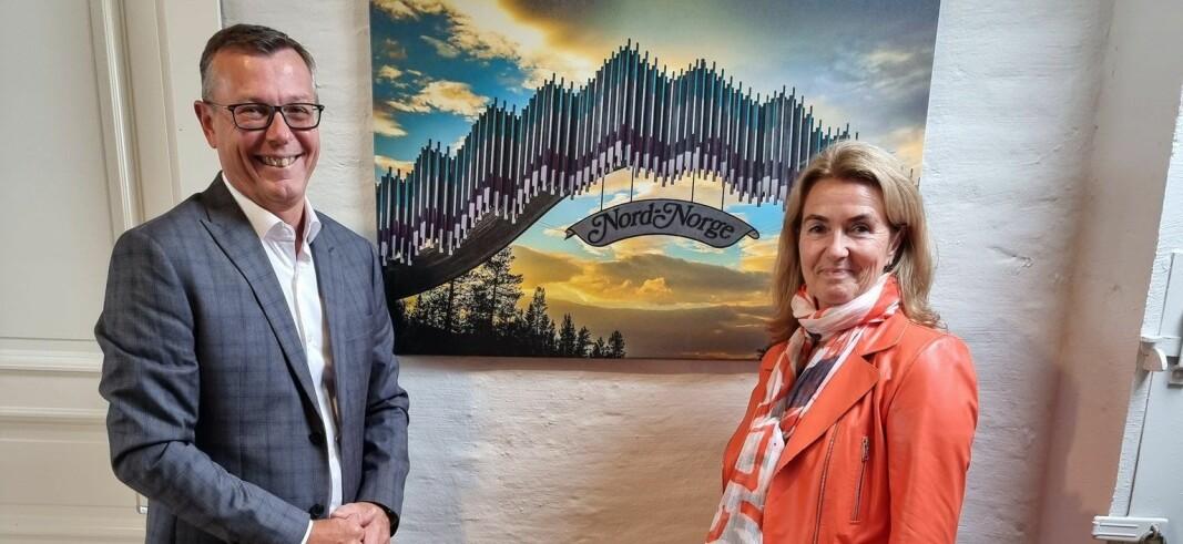 Rektor Dag Rune Olsen og styreleder Marianne Johnsen skal ha sitt første styremøte ved UiT Norges arktiske universitet tirsdag 21. september.