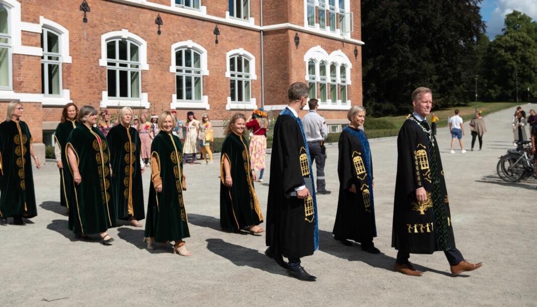 I august i år ledet rektor Curt Rice sin første immatrikulering ved NMBU og uttalte at universitetet