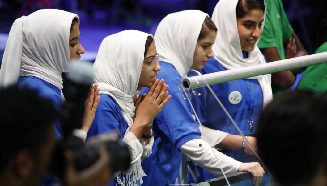 Kvinnelige afghanske studenter kan få høre på menn forelese dersom mannen står bak en gardin. Dette bildet er ikke relatert til akkurat denne saken, men ment som illustrasjon.