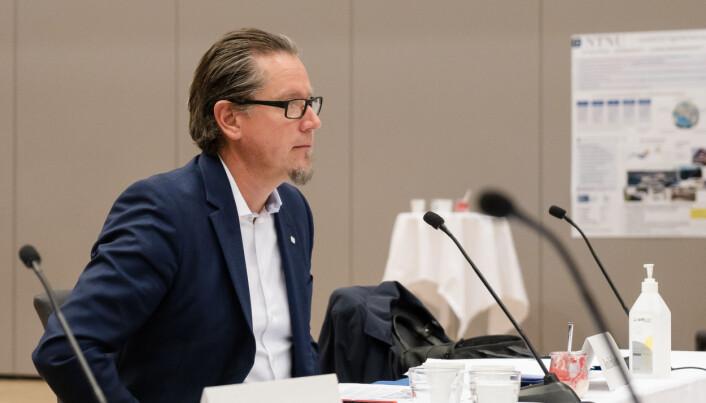 Remi Eriksen da han ledet sitt første styremøte ved NTNU i forrige uke.