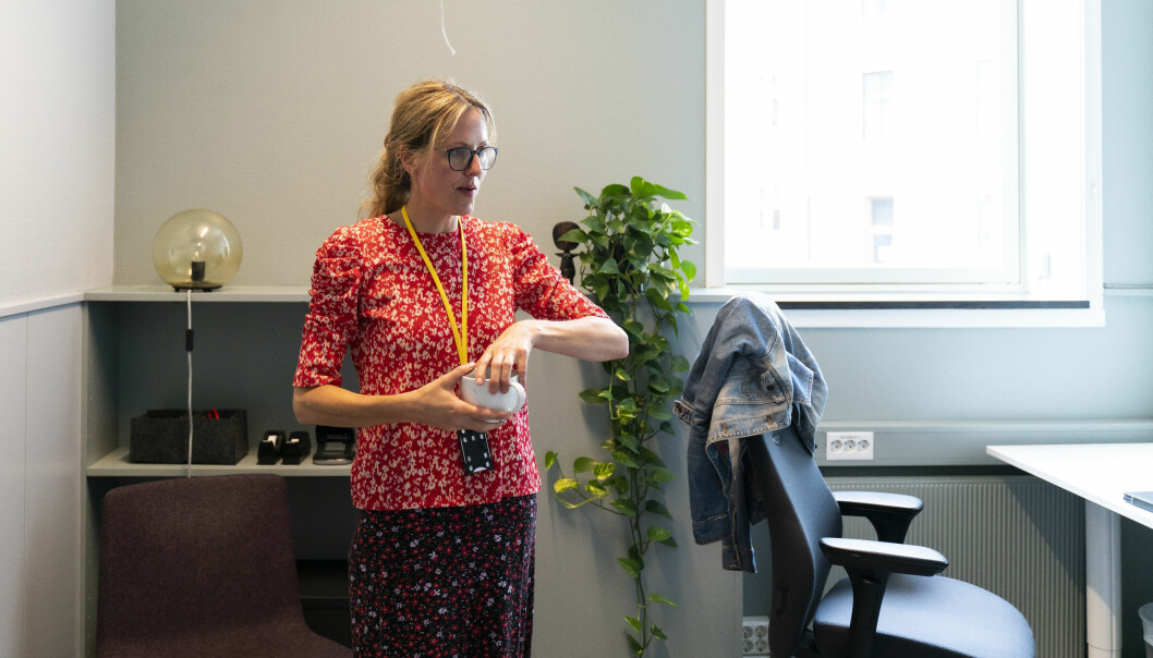 Else Werring på kontoret hun deler med studentpresten på OsloMet.
