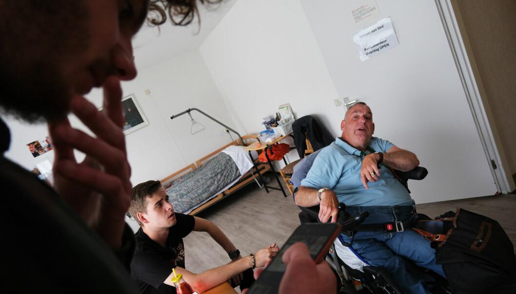 Peter Kolb og Rens Keppels møtes gjerne hjemme hos nabo Rein Kers.