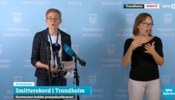 Fungerende kommuneoverlege Elizabeth Kimbell orienterte om smittesituasjonen i Trondheim.
