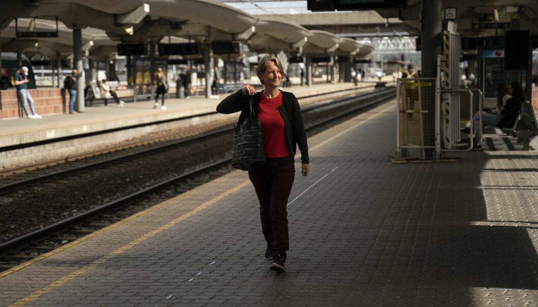Kjellrun Hiis Hauge reiste med toget da hun skulle fra Bergen til Oslo for et par uker siden.