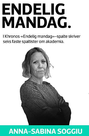 Anna-Sabina Soggiu, spaltist i endelig mandag
