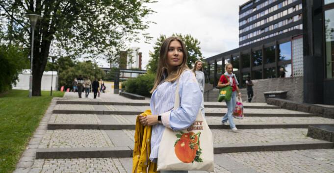 Den ferske studenten Astrid: — Jeg har hørt litt negativt om Oslo som studentby