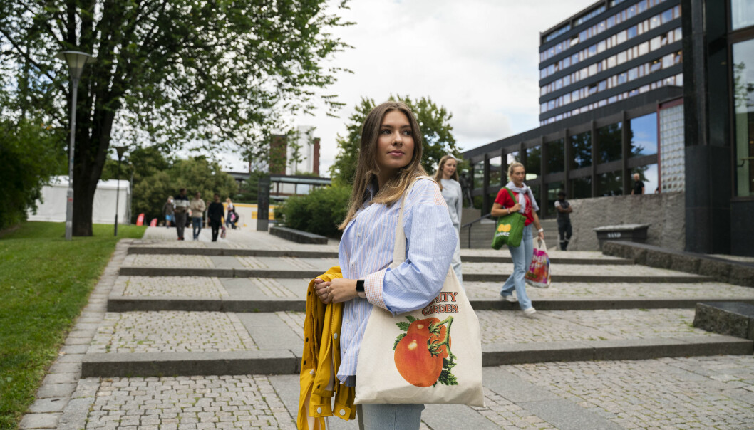 Universitetet i Oslo-student Astrid Utheim Aune går honours-programmet i samfunnsvitenskap og tar en bachelorgrad i statsvitenskap.