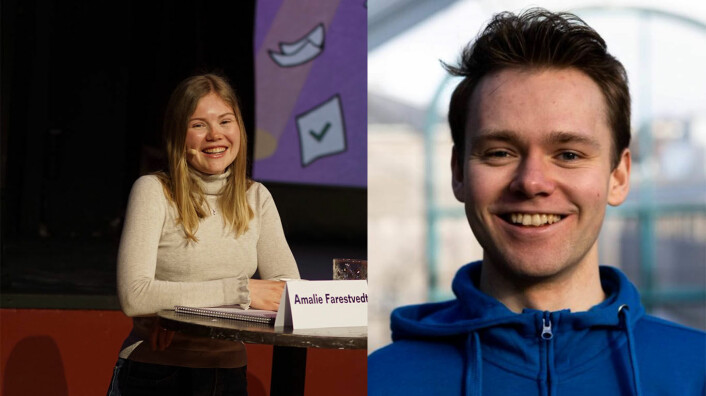 Studentrepresentantene i NTNU Styret, Amalie Farestvedt og Jørgen Valseth gleder seg til diskusjonen som vil oppstå rundt nedskaleringstiltakene.