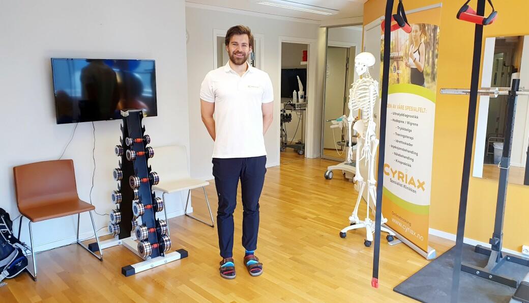 Nils Meier er tilbake i Norge etter flere år i USA. Nå arbeider han ved en privat kiropraktorklinikk på Danmarks plass i Bergen.