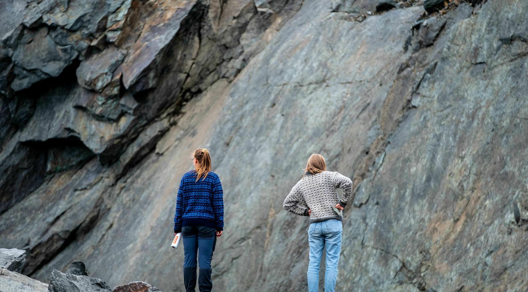 Mari Hasle Einang (t.v.) fra klimautvalget 2050, og Solveig Skaugvoll Foss (t.h.) i Repparfjord 2021.