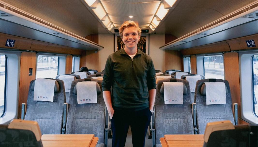 Det vert ein lang togtur for at Gard Skulstad Johanson skal oppfylla vallovnaden.