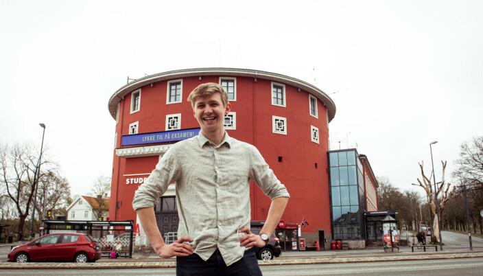 Fredrik Akre, leder for Studentersamfundet i Trondheim.