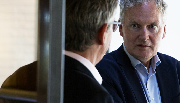 Universitetet i Oslo får 120 millioner mer i kutt til pensjonspremier enn universitetet har beregnet. Her er universitetsdirektør Arne Benjaminsen sammen med rektor Svein Stølen.