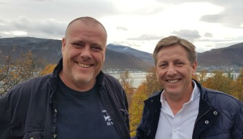 Dekan Jørgen Berge og fakultetsdirektør Terje M. Aspen ved BFE-fakultetet hos UiT.