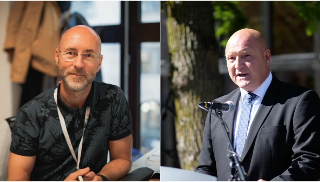 Professor ved Høyskolen Kristiania, Per Morten Fredriksen (t.v.), blir ny dekan ved Høgskolen i Innlandet. Morten Ørbeck får forlenget sitt åremål med fire nye år.