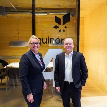 Prorektor for nyskaping ved NTNU, Toril Hernes og administrerende direktør i Equinor ASA, Anders Opedal.