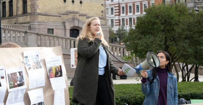 Demo: Studentene krever mer av en ny regjering