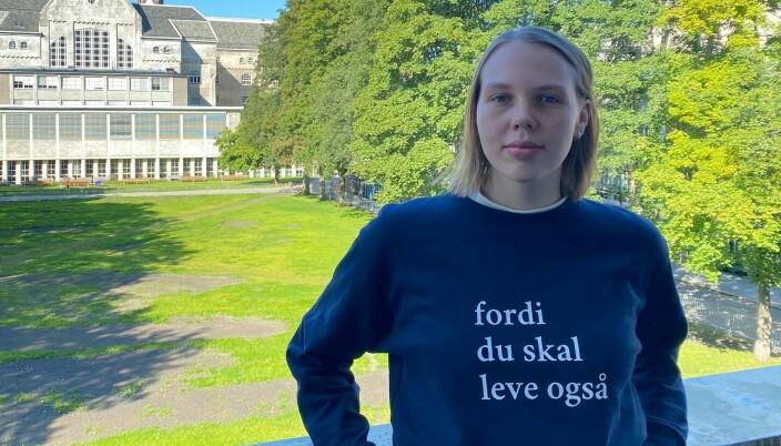 Penger som kan bidra til å bedre studentenes psykiske helse står øverst på Ellinor Lindströms ønskeliste.