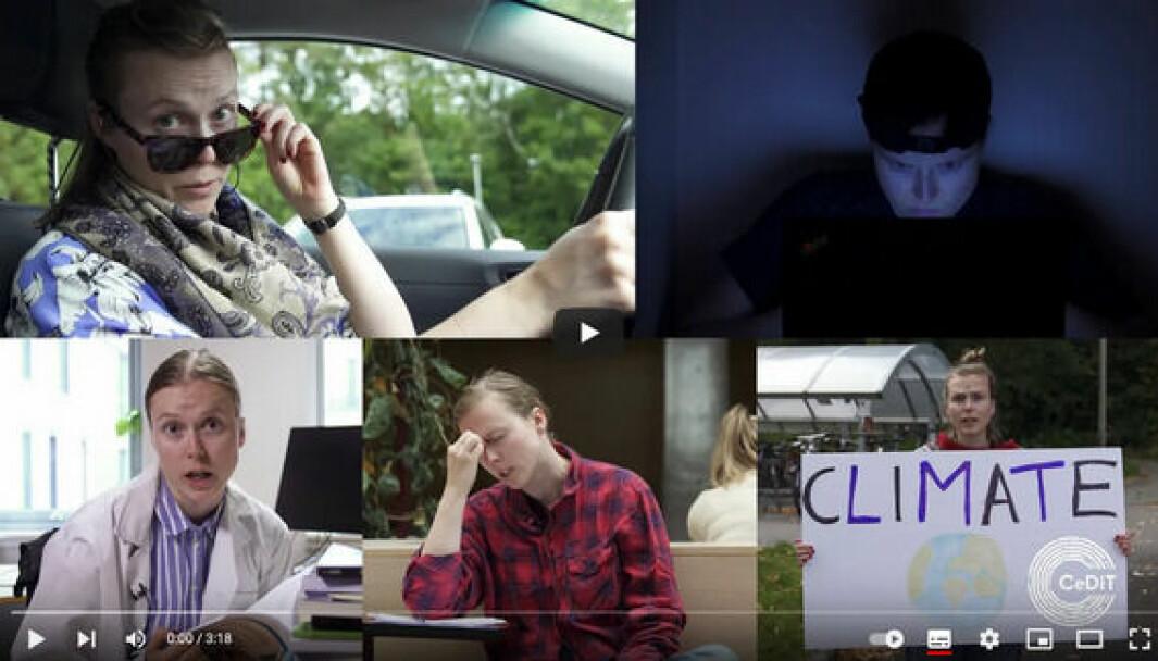 «Visste du at folk er idioter?» - slik starter Marthe Wilhelmsens video om egen forskning.