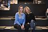 Julie Størholdt Iversen og Nina Waaler oppfordrer studentene til å svare på helse- og trivselsundersøkelsen, og de håper på ærlige svar. Foto: Sonja Balci
